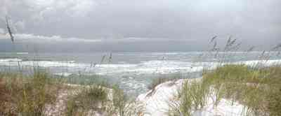 Gulf-Islands-National-Seashore:-Fort-Pickens:-Battery-234_03.jpg:  sea oats, dunes, gulf of mexico, storm, tropical storm, surf, barrier island