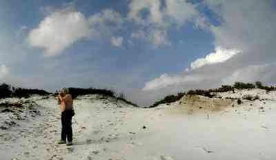 Pensacola-Beach:-Dunes_08.jpg:  santa rosa island, gulf of mexico, gulf islands national seashore, escambia county, cumulus clouds, beach, sand dunes, emerald coast