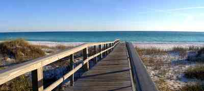 Pensacola-Beach:-Escambia-County-Parking-Lot_04.jpg:  gulf of mexico, boardwalk, dune, crossover, cordgrass, sea oats