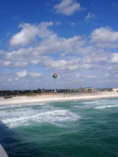 Pensacola-Beach:-Gulf-Fishing-Pier_11a.jpg:  casino beach, gulf of mexico, pier, dock