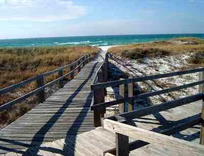 Perdido-Key:-State-Recreation-Area-2_03.jpg:  boardwalk, beach, gulf of mexico, sea oats, dunes,